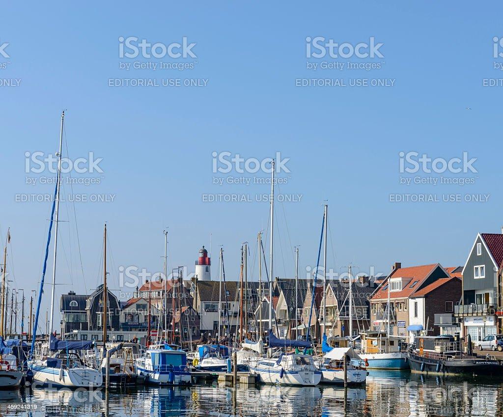 Urk harbor stock photo