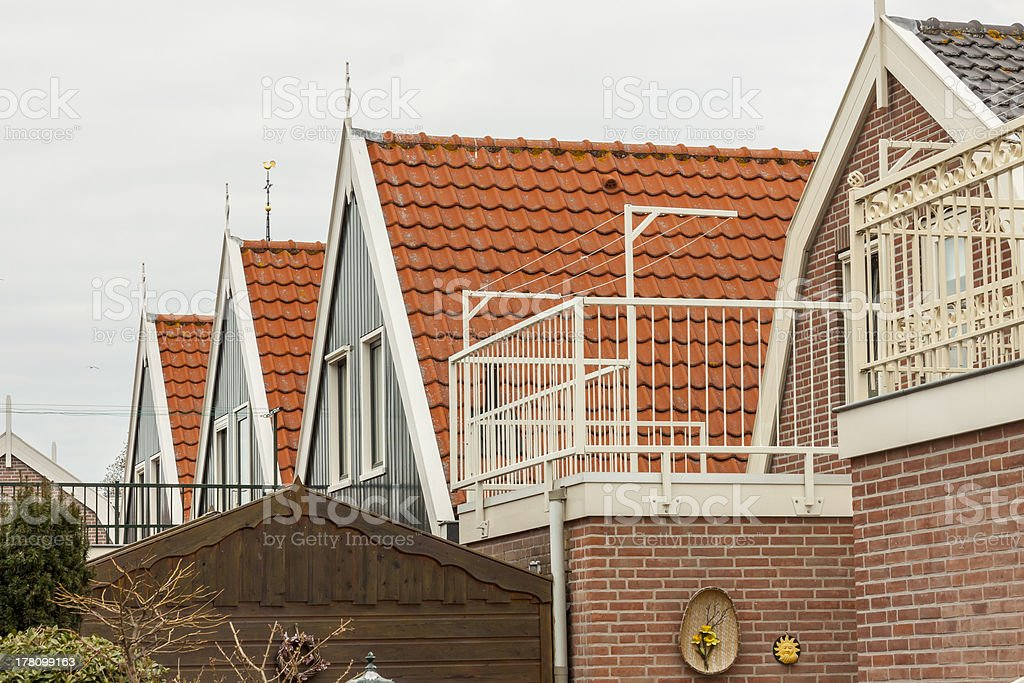 Urk town typical Netherlands city. royalty-free stock photo