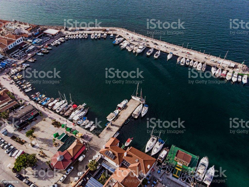 Urla; Touristic Town in Izmir, Turkey stock photo