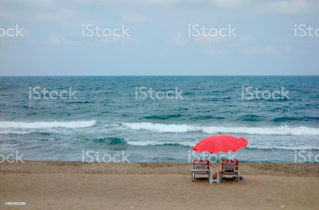Urlaub am Meer stock photo