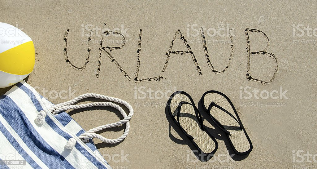 Urlaubsfeeling royalty-free stock photo