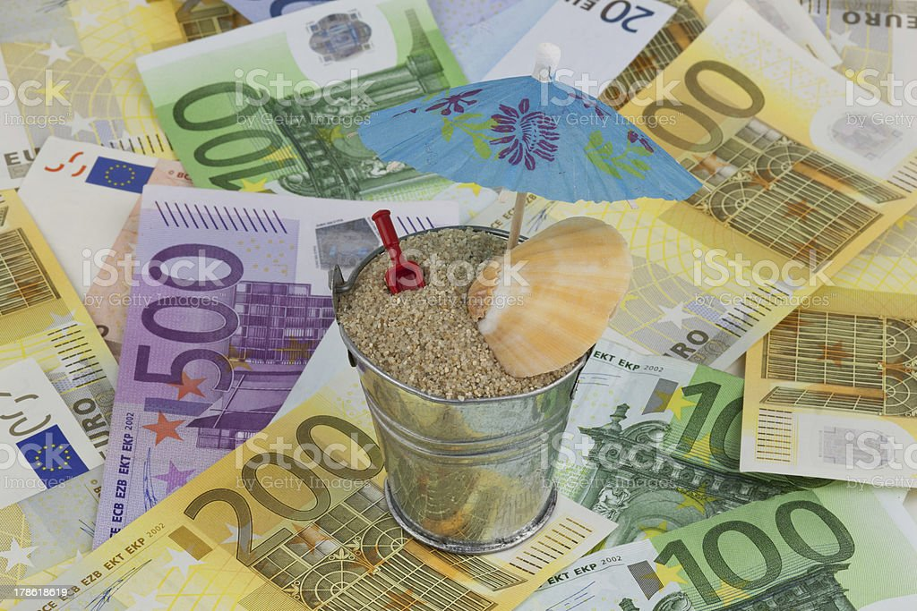 urlaubskasse - money stock photo