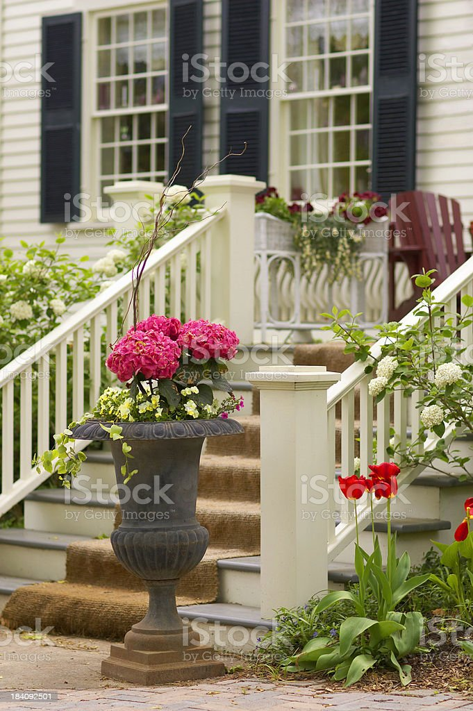 Urn by the steps royalty-free stock photo