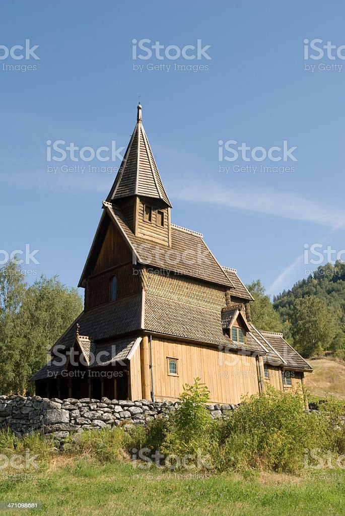 Urnes stave church royalty-free stock photo