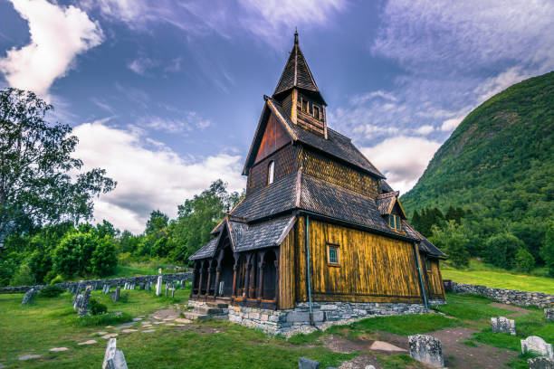 Urnes Stabkirche, der UNESCO, in Ornes, Norwegen – Foto