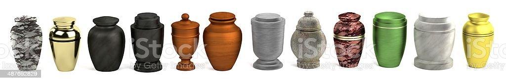 urns stock photo