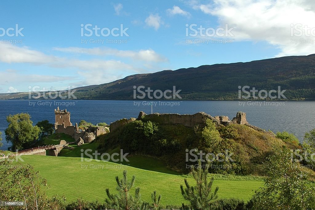 Urquhart Castle And Loch Ness, Scotland. royalty-free stock photo