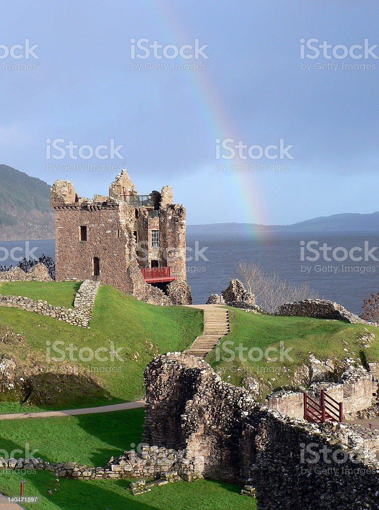 Urquhart Castle stock photo