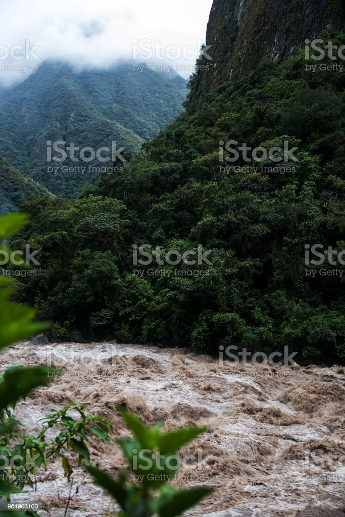 Urubamba river in Peru royalty-free stock photo