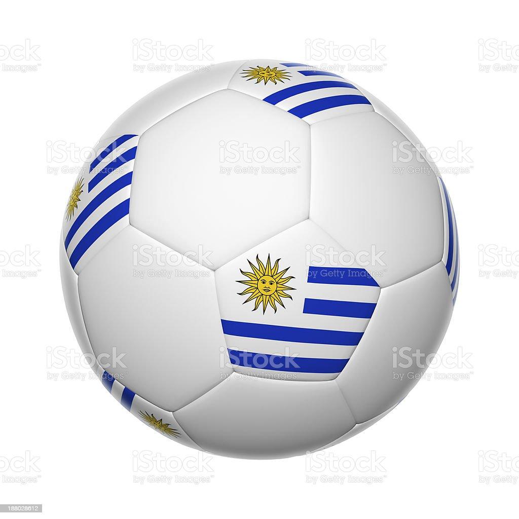 Uruguaian soccer ball stock photo