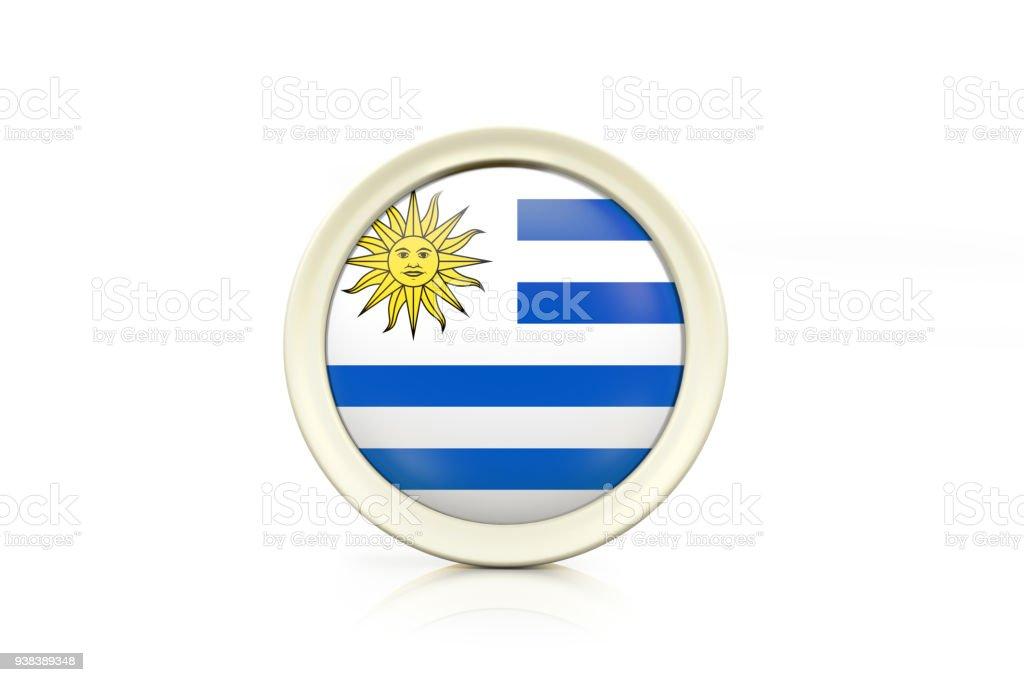 Insignia de Uruguay sobre fondo blanco - foto de stock