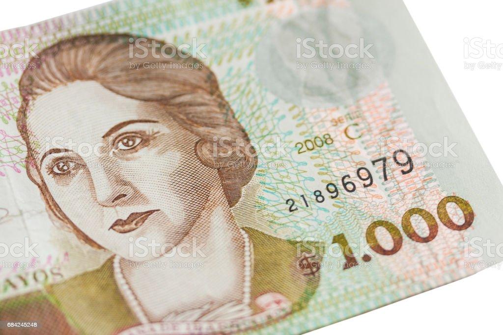 Uruguay Bank Note royalty-free stock photo
