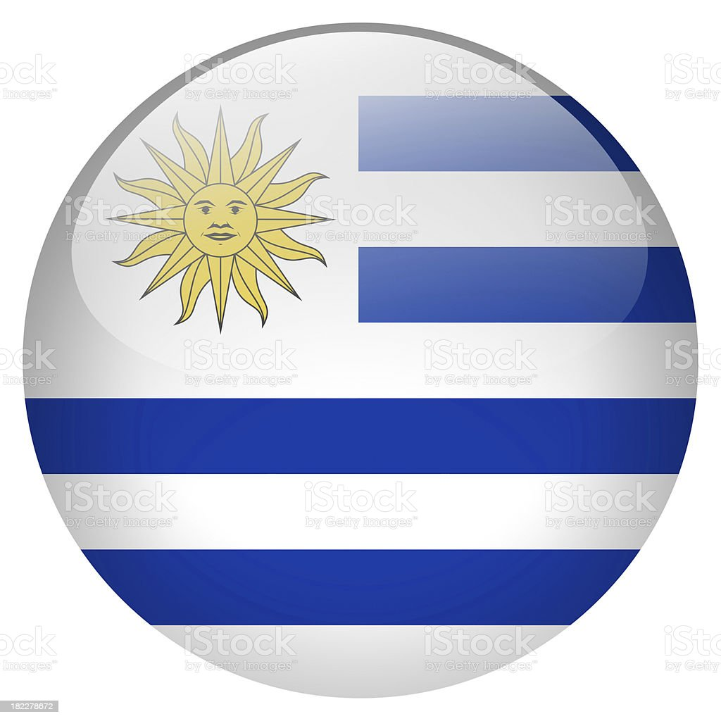 Botón de uruguay - foto de stock