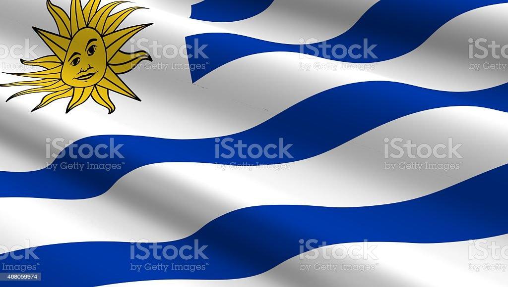 Uruguay flag background. stock photo