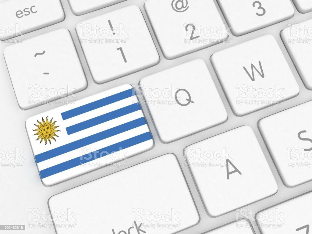 Teclado de bandera de Uruguay - foto de stock