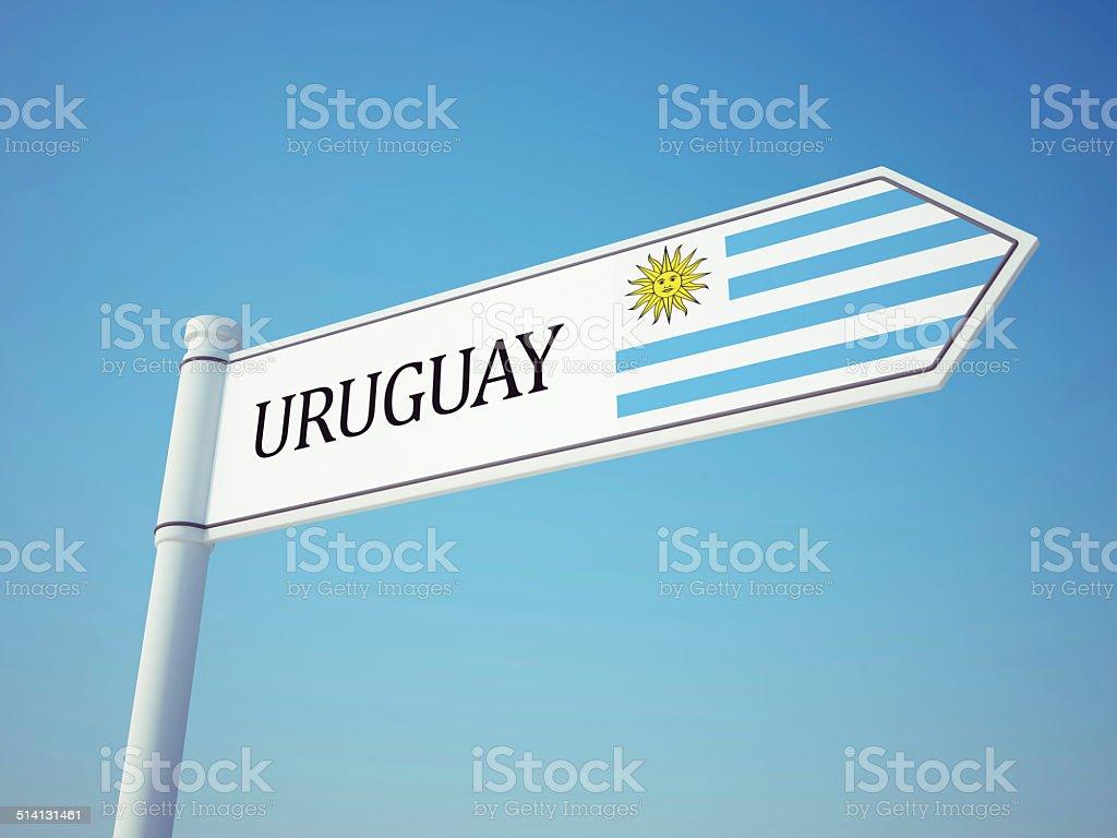 Bandera de Uruguay señal - foto de stock