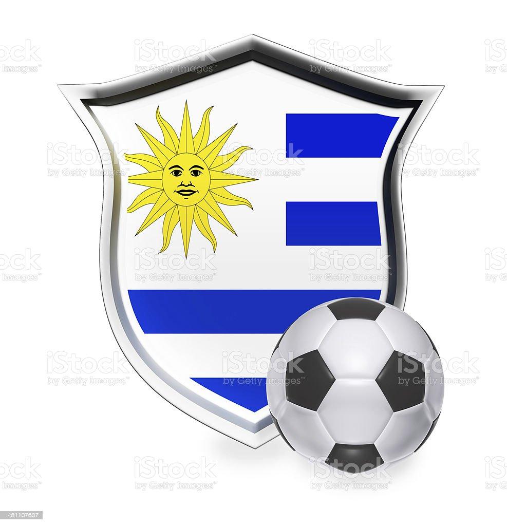 Uruguay Flag with Soccer Ball stock photo
