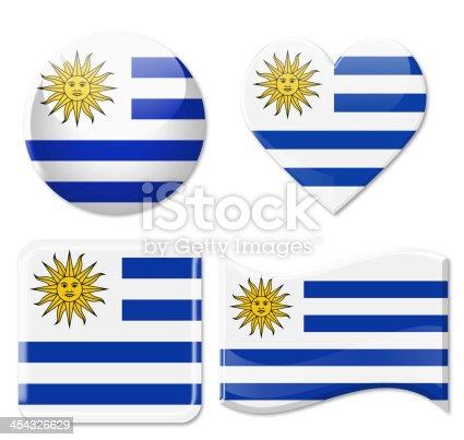 istock Uruguay Flags & Icon Set 454326629