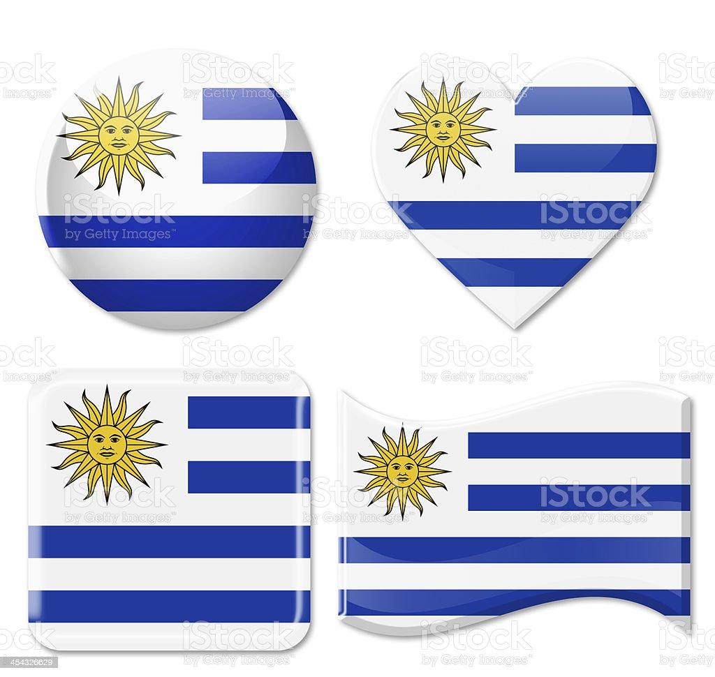 Uruguay Flags & grupo de iconos - foto de stock