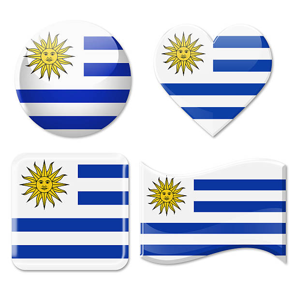 Uruguay Flags & grupo de iconos - foto de stock