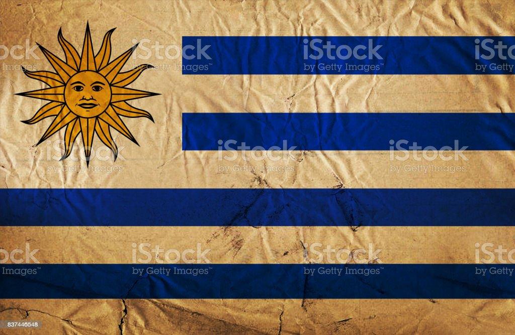 grunge de bandera de Uruguay - foto de stock