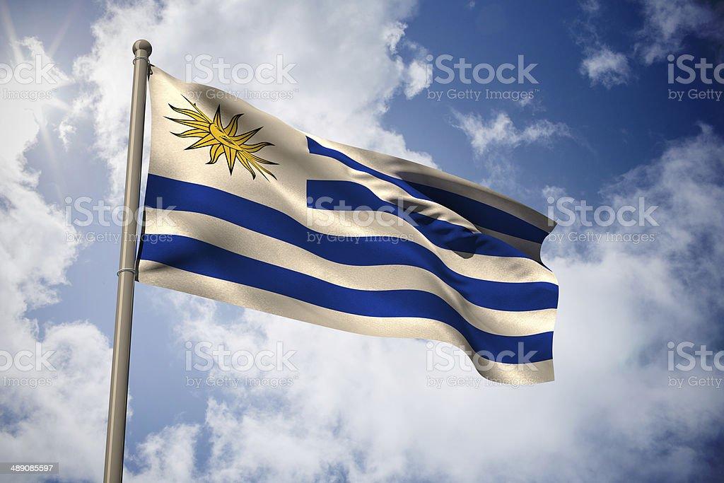 Uruguay bandera nacional - foto de stock