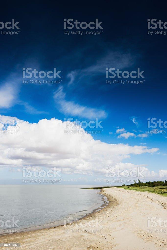 Uruguay Summer White Sandy Beach stock photo