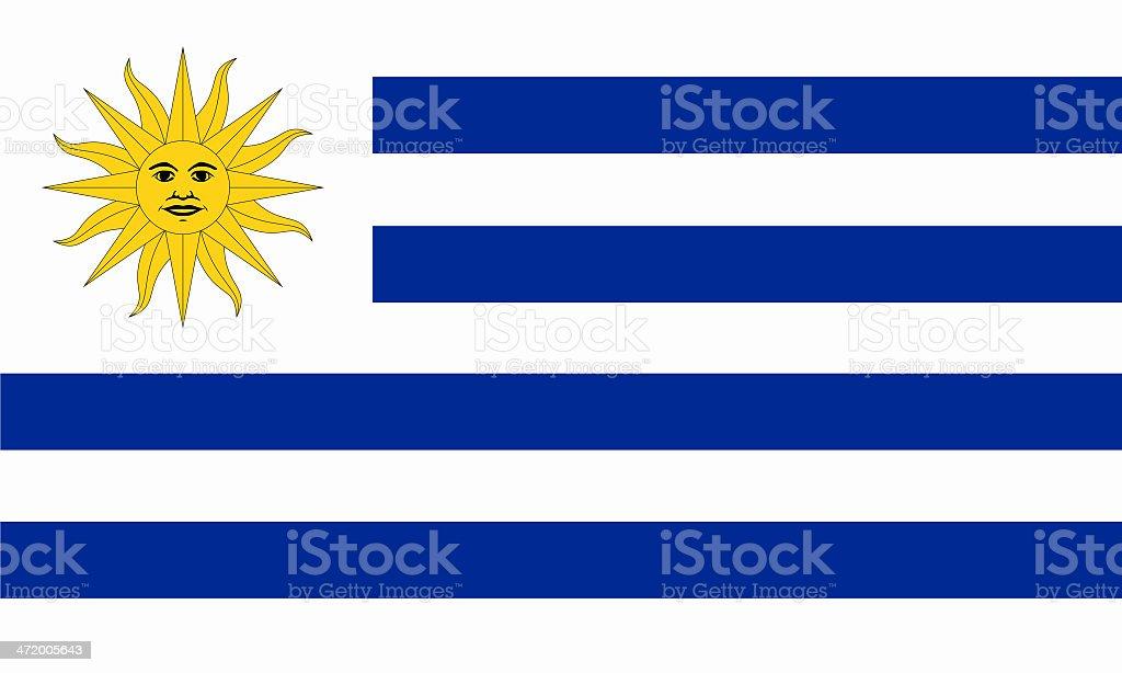 Bandera uruguayo - foto de stock