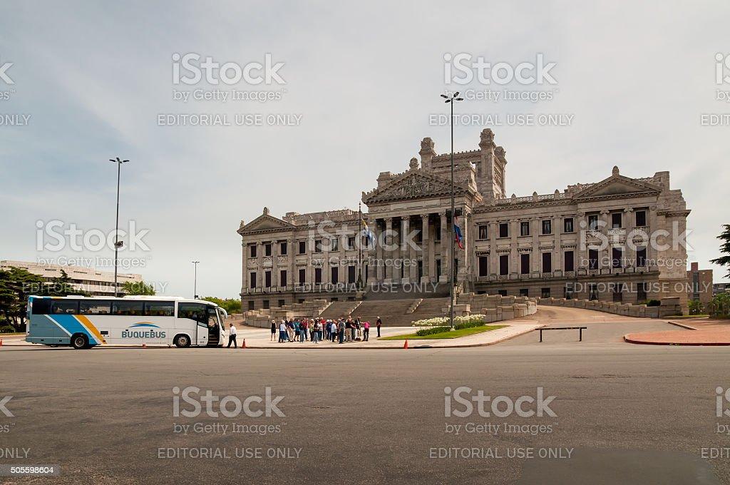 Uruguayan Legislative Palace Classic Parliament, Montevideo, Uru stock photo