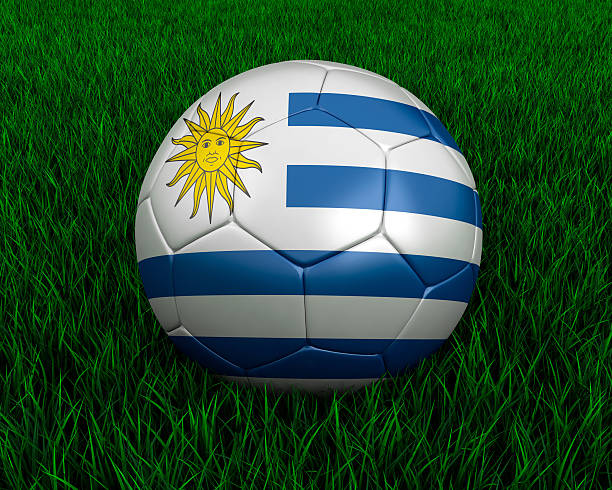 Uruguayan soccer ball stock photo