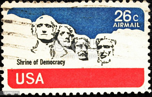 shrine of american democracy related vintage stamp.