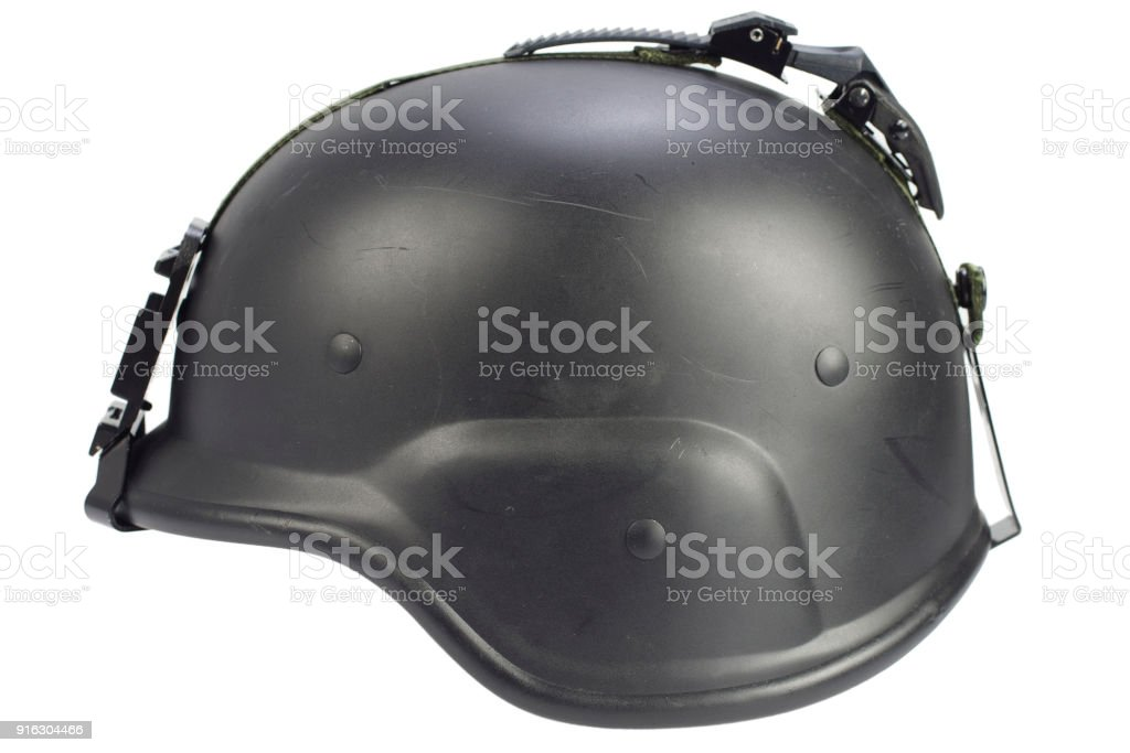 us army kevlar helmet isolated on whhite stock photo