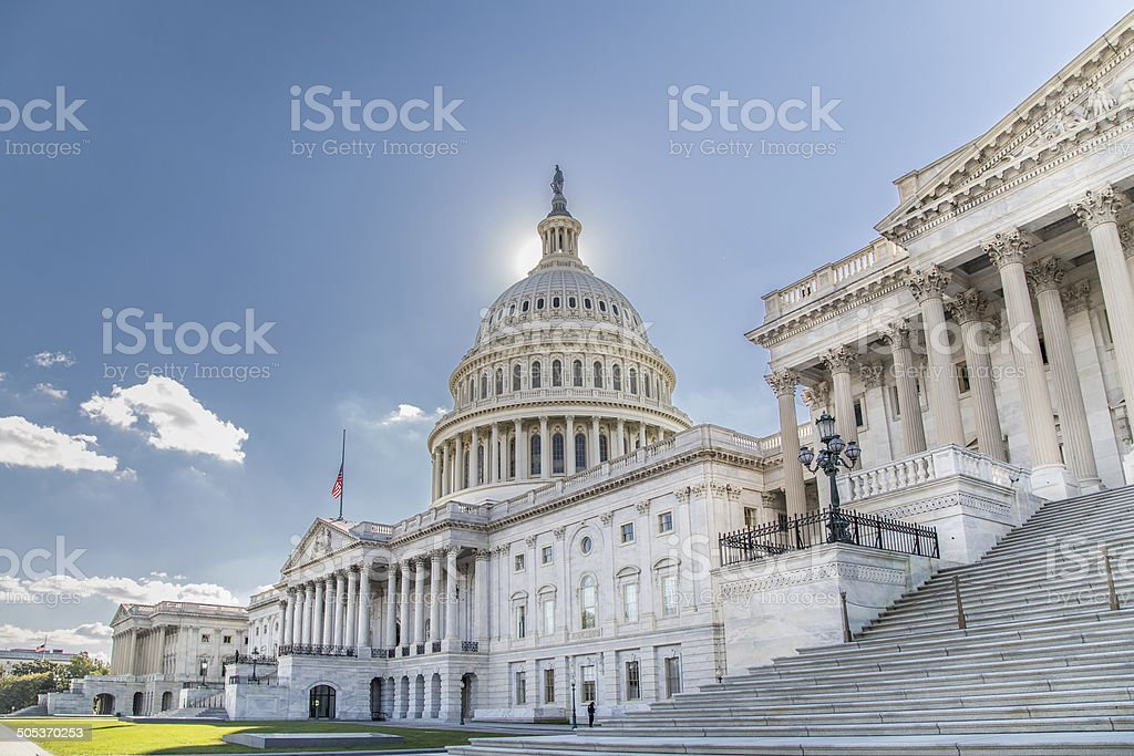us capital building, from rear, east side, back side, dome, stock photo