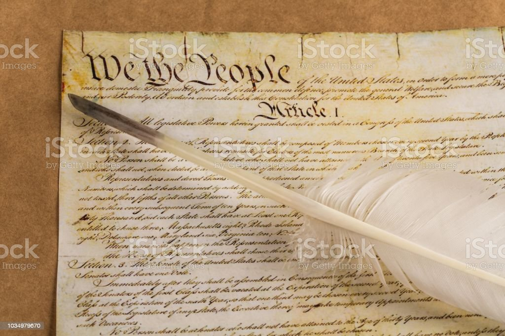 Us constitution declaration of independence quill pen usa government...