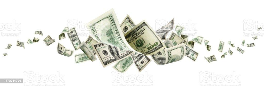 美元鈔票華盛頓美國現金回降美元 - 免版稅一個物體圖庫照片