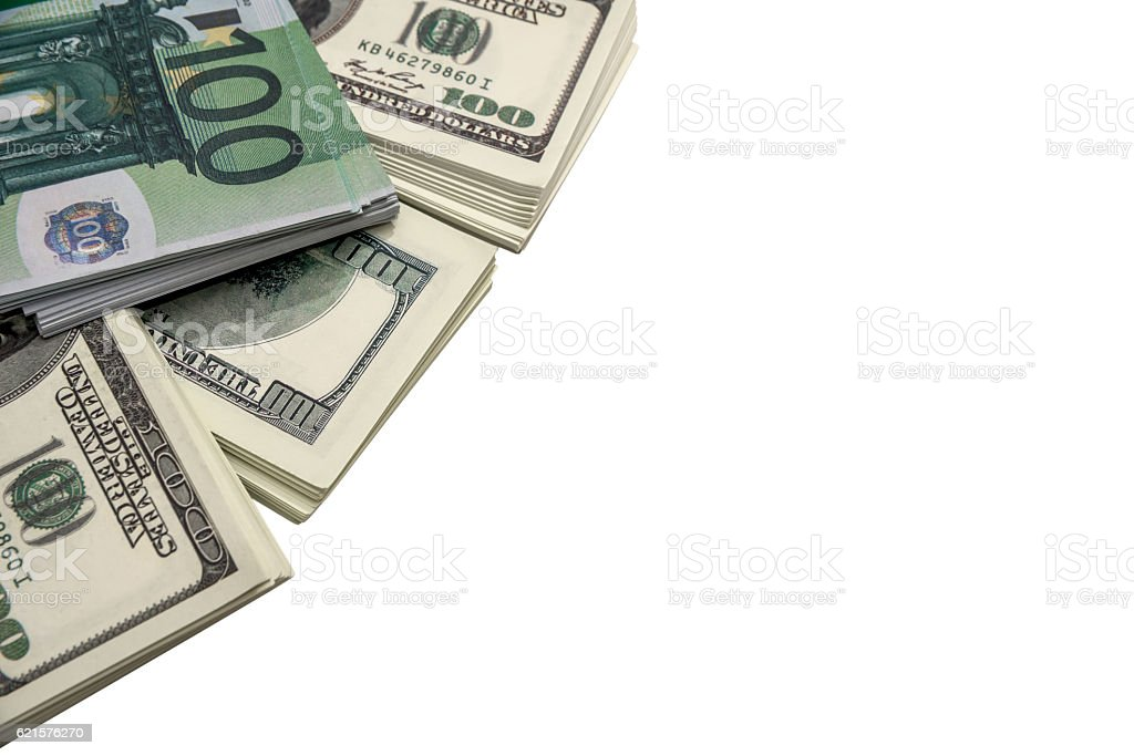100 us dollar isolated on white background photo libre de droits