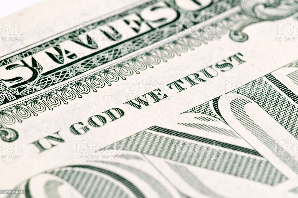 Us Dollar - Macro shot stock photo
