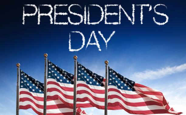 nos sinalizadores para o dia do presidente - presidents day - fotografias e filmes do acervo