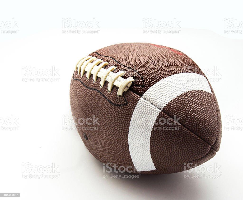us football ball on white background stock photo