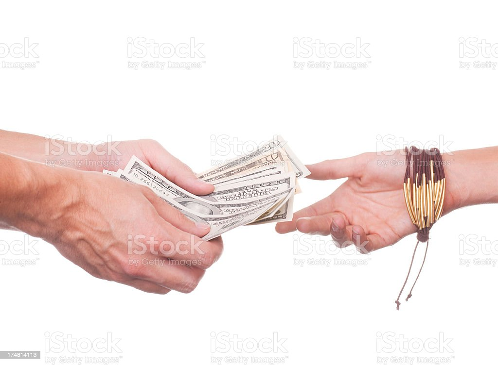 Us money in the hands. royalty-free stock photo