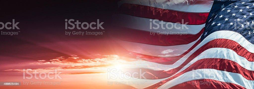 us-Flagge winken auf wind – Foto