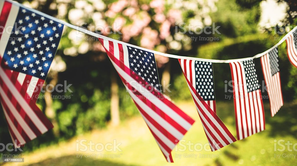 us national holiday pennants http://blogtoscano.altervista.org/nati.jpg   American Culture Stock Photo