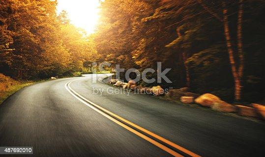 Us road on acadia national park