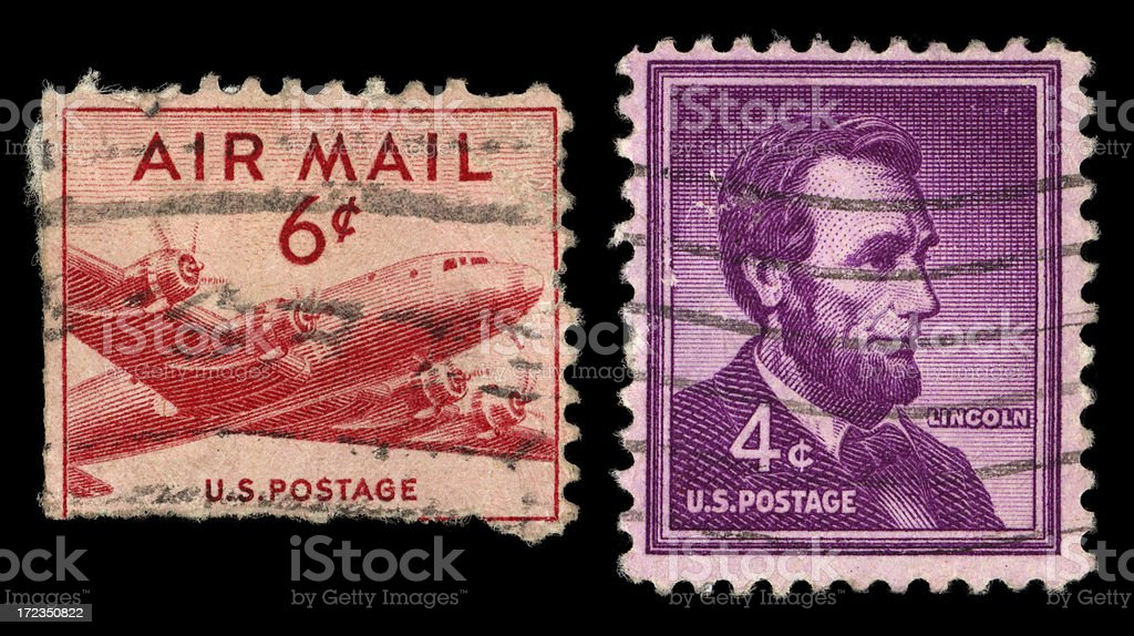 us stamps royalty-free stock photo