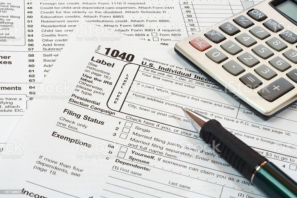 us tax form royalty-free stock photo