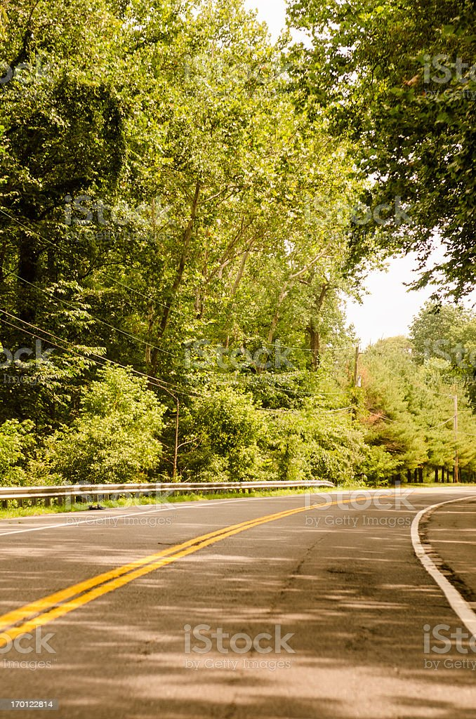 Us two lane road royalty-free stock photo