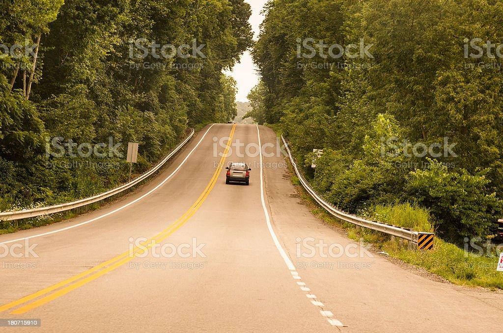 Us two lane road royalty-free stock photo