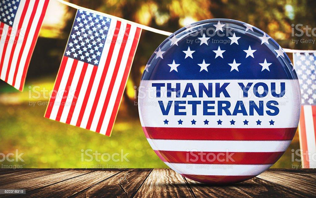 us veterans national holiday pennants stock photo