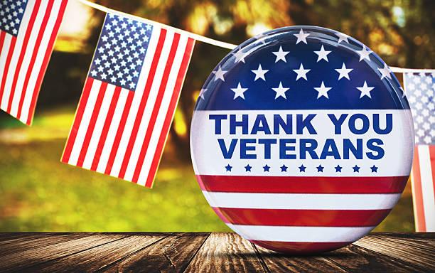 us-veteranen-urlaub banner - horizontal gestreiften vorhängen stock-fotos und bilder