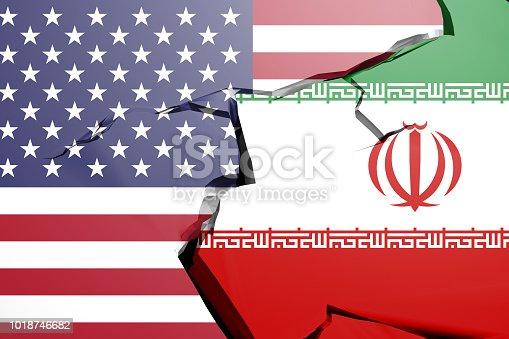 istock Usa And Turkish Flag Trade War Concept 1018746682